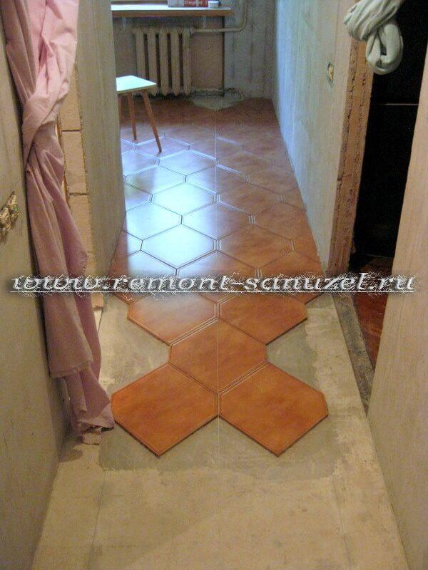 Напольная плитка для кухни: фото, преимущества